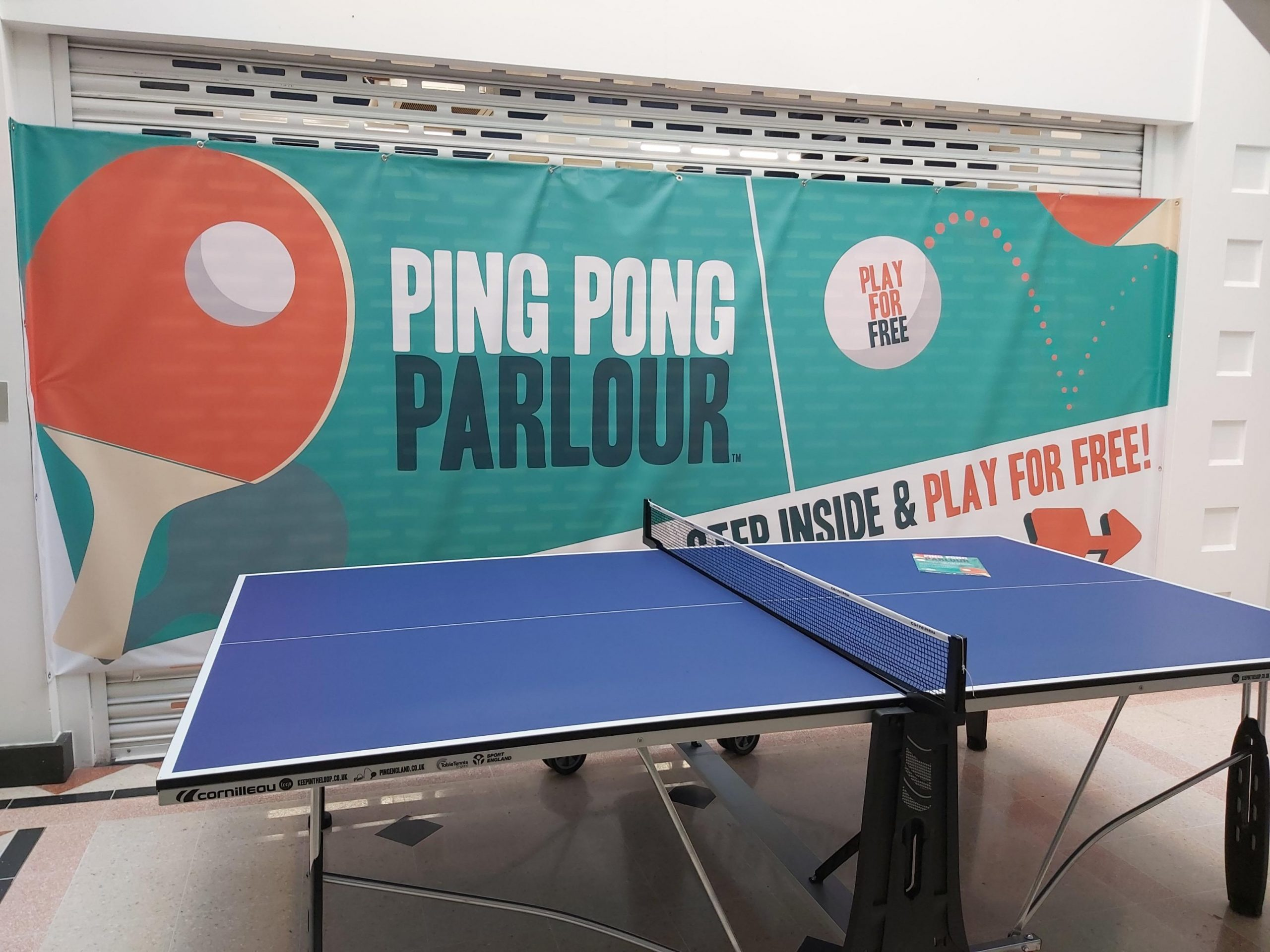 Leeds sporting celebrities head to Harrogate to unveil new ping-pong parlour